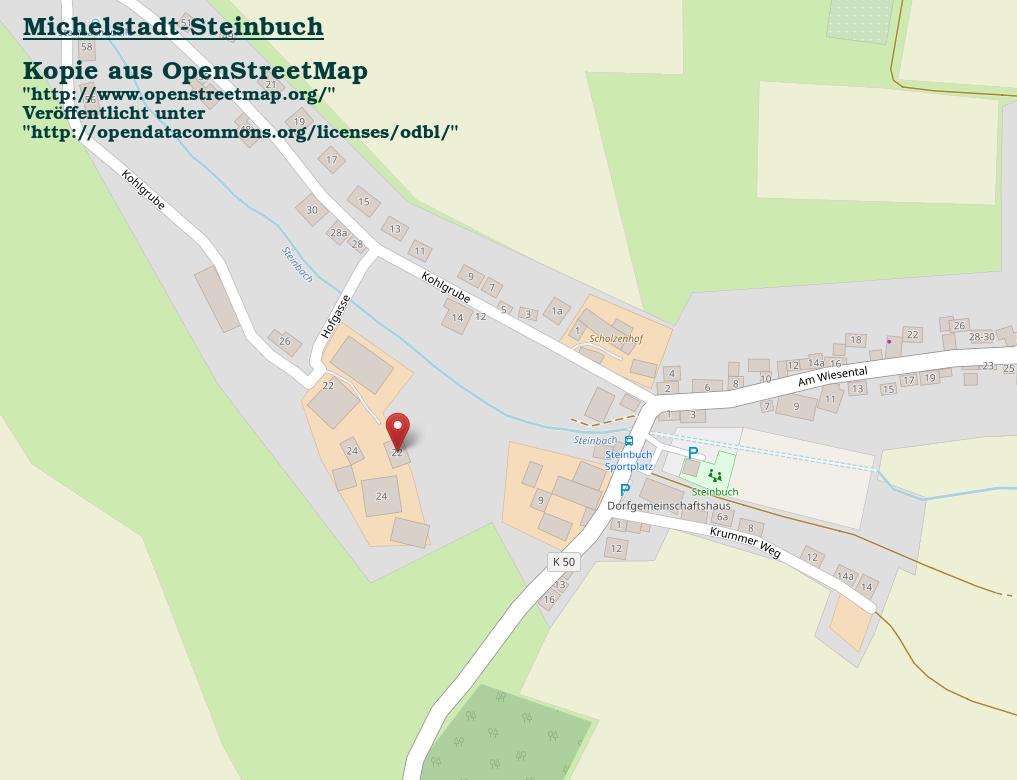 OpenStreetMap Steinbuch Kohlgrube 22